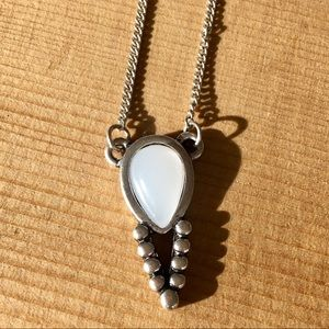 Beautiful Necklace with Opaque Center